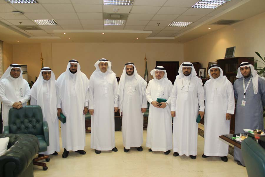 16/01/1435 visit Dean of e-learning at the University of Tebh